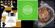Lauréats des prix Les Saveurs du Canada - Taste Canada Awards 2018